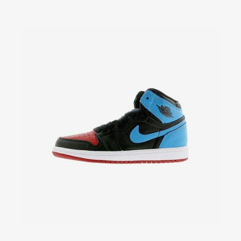 Jordan 1 High OG PS Black, Dark Powder Blue & Red | END.